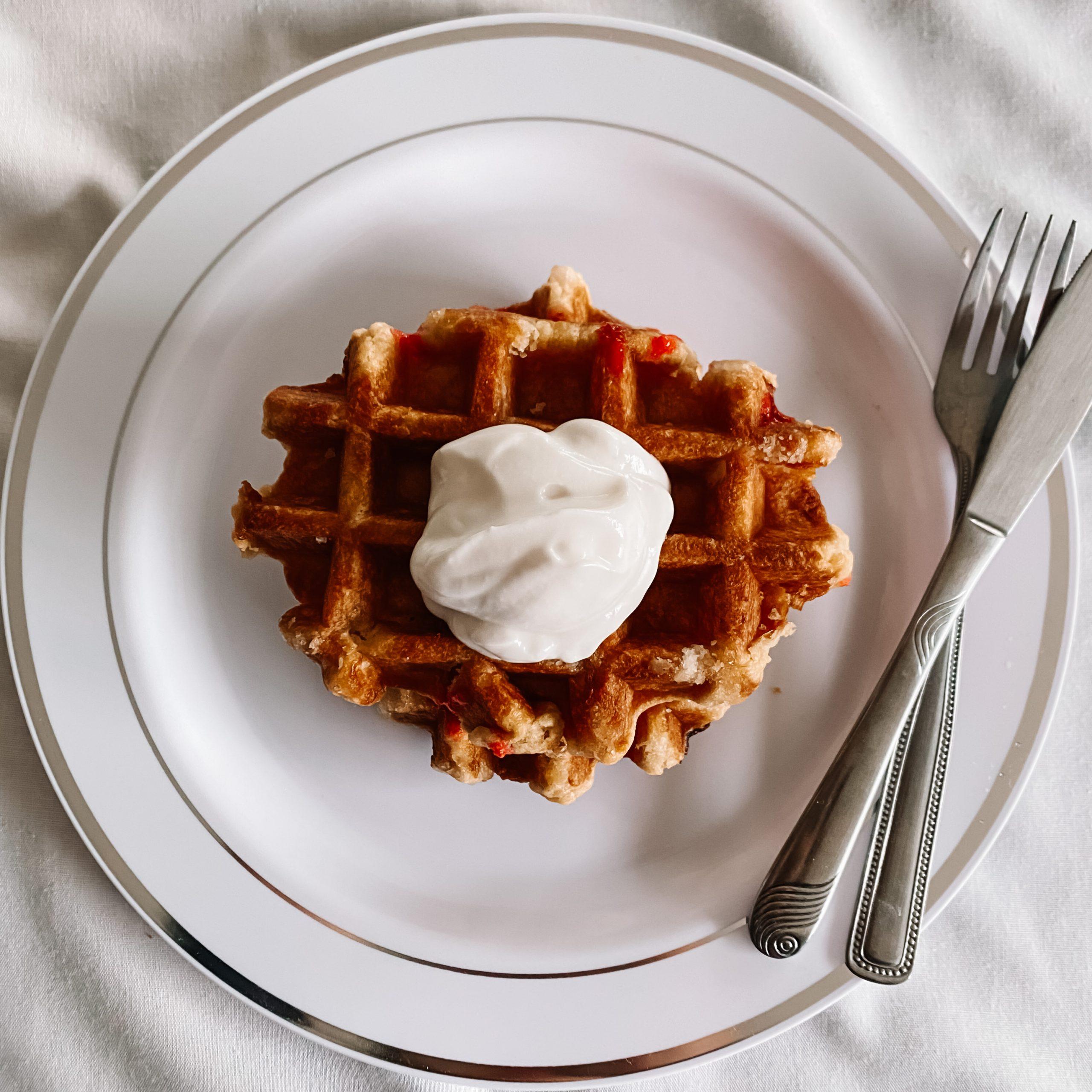 High Protein Vegan Waffles