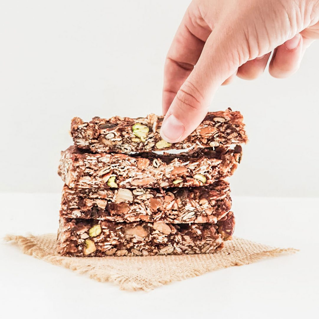 Healthy muesli bars