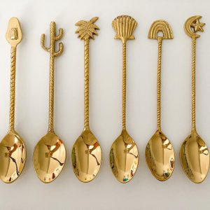 8 piece brass dessert spoon collection