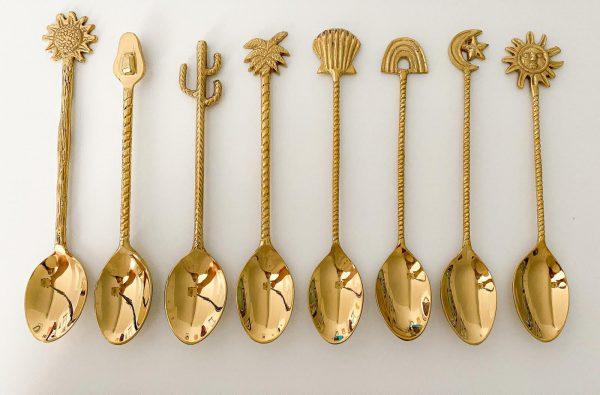 8 piece brass dessert spoon collection