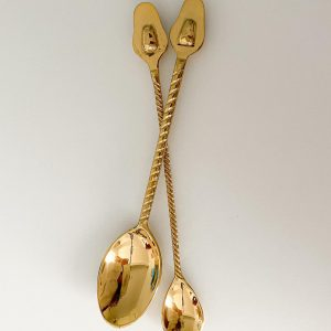 avocado brass teaspoon dessert spoon