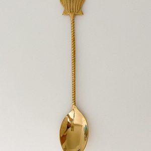 shell brass dessert spoon