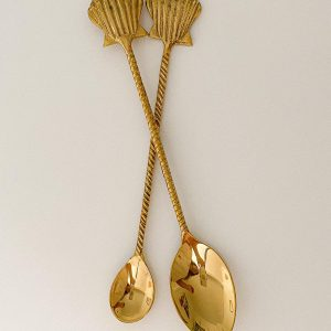 shell brass teaspoon dessert sppon
